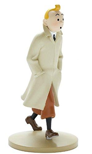 Figurine de collection Tintin marchant en trench 12cm Moulinsart 42190 (2015)
