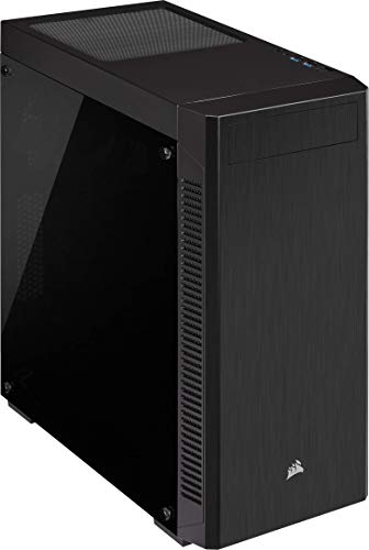 Corsair 110R Boîtier ATX Moyen-Tour en Verre Trempé (Conception Minimaliste, Options de Stockage Flexibles, Filtres à Poussière Amovibles, Ventilateur de 120 mm Inc) - Noir
