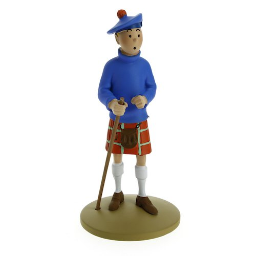 Figurine de collection Tintin en kilt 13cm Moulinsart 42192 (2015)