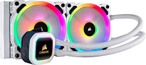 Corsair Hydro H100i RGB Platinum SE, Hydro Series, Radiateur de 240 mm (Deux Ventilateurs PWM RGB LL120, Avancé de L'éclairage RGB et Des Ventilateurs) Refroidisseur Liquide pour Processeur - Blanc gameover.fr