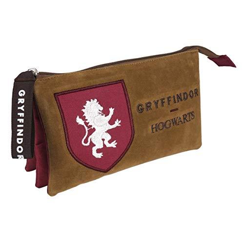 Artesania Cerda Estuche/portatodo Plano 3 Compartimentos Harry Potter Gryffindor Poche supplémentaire, 22 cm, Rouge (Rojo)