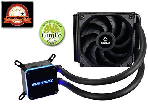 ENERMAX Liqmax III 120 Refroidisseur Liquide pour Processeur - Kit Watercooling Aio Noir – Radiateur Ventilateur de Refroidissement 120mm - Elc-Lmt120-HF gameover.fr