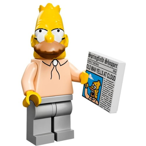 The Simpsons Lego Mini Figure Grandpa