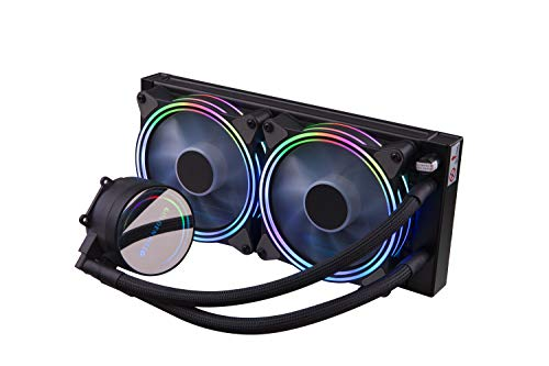 GOLDEN FIELD ICY Chill Series Refroidisseur Liquide, 2X PWM Adressables 120mm Ventilateur, 240mm Radiateur Liquid CPU Cooler, WaterCooling RGB Refroidisseur de processeur System for Intel AMD
