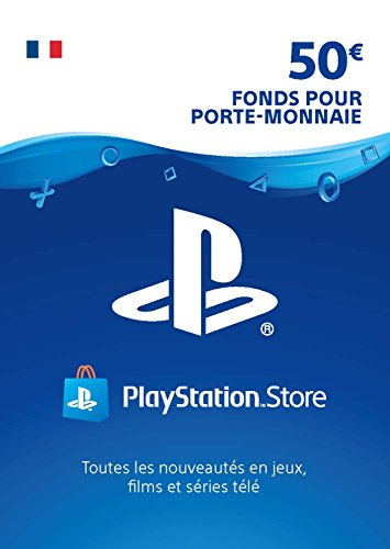 Carte PSN 50 EUR   Compte français   Code de téléchargement (PS5/PS4/PS3)