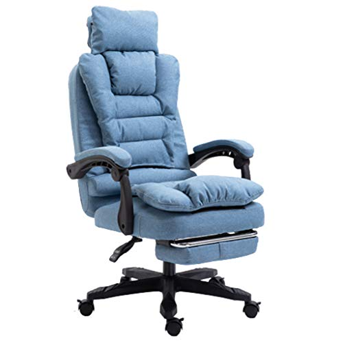 SXJ Chaise Gaming, Chaise Gamer avec Repose-Pieds, Chaise De Bureau Ergonomique avec Support Lombaire, Chaise De Jeu PC Inclinable pour Adultes, Chaise De Bureau,C