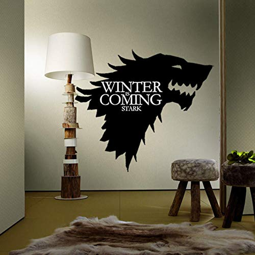 ShopSquare64 T-5 Game of Thrones Stark Famille emblème Ice Wolf Stickers muraux gravés Stickers muraux