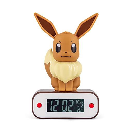 Réveil avec lampe Pokémon personnage Evoli