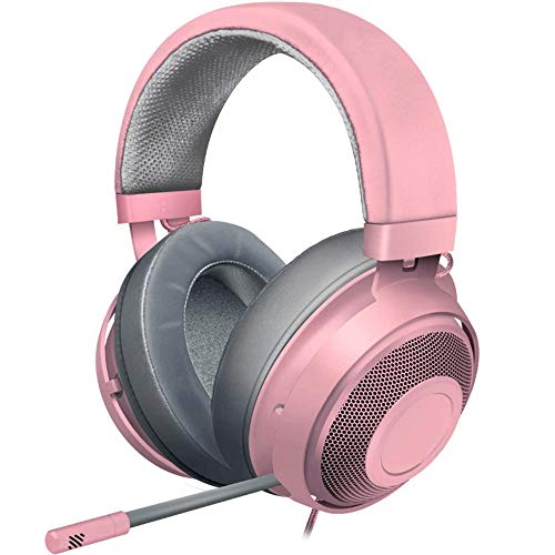 Casque De Jeu: Cadre en Aluminium Léger Microphone D'isolement De Bruit Rétractable, for PC PS4 PS5 Switch Xbox One Mobile 3.5 Mm Jack Audio (Color : Pink) gameover.fr