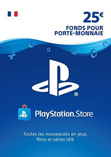Carte PSN 25 EUR | Compte français | Code de téléchargement (PS5/PS4/PS3)