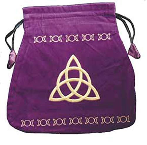 Bourse velours violette charmed - accesoires pour jeu de carte (non inclu)