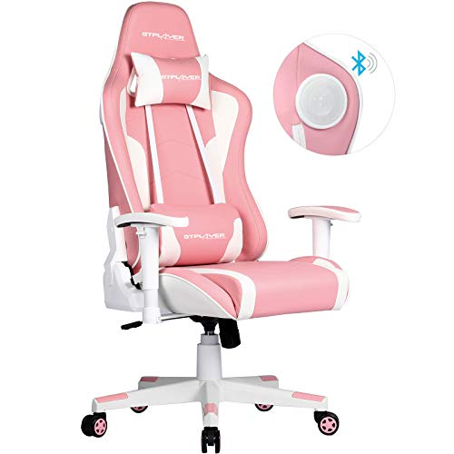 GTPLAYER Chaise gaming rose
