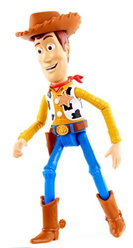 Disney Pixar Toy Story 4 Figurine parlante Woody, phrases et sons, pour rejouer les scènes du nouveau film, version française, jouet pour enfant, GFR19