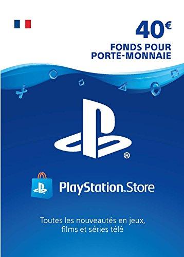 Sony PlayStation Store, Fonds pour porte-monnaie virtuel, Valeur 40 EUR, Code à télécharger, Compte français