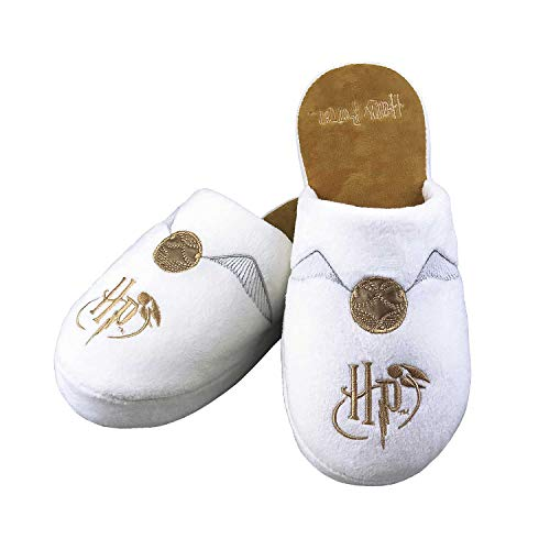 Chaussons Harry Potter blanc et or