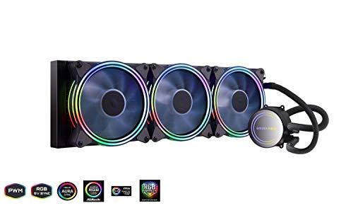 GOLDEN FIELD ICY Chill Series Refroidisseur Liquide, 3X PWM RGB Adressables 120mm Ventilateur, 360mm Radiateur Liquid CPU Cooler, WaterCooling Refroidisseur de processeur System for Intel AMD