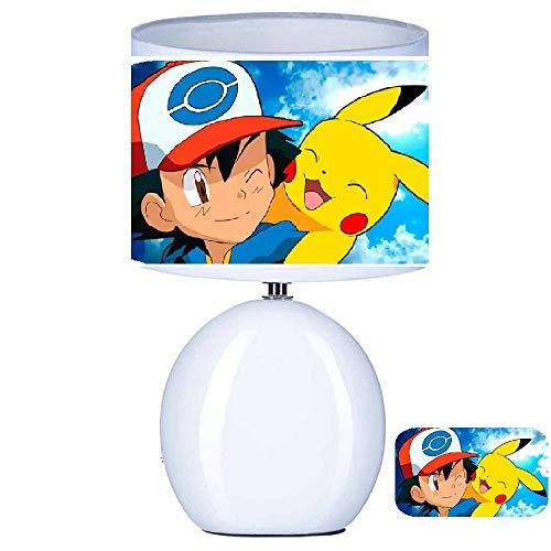 Lampe de chevet artisanale Pokémon personnage Pikachu