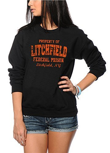 HotScamp Litchfield Federal Prison Orange est Le Nouveau Pull Unisexe Noir