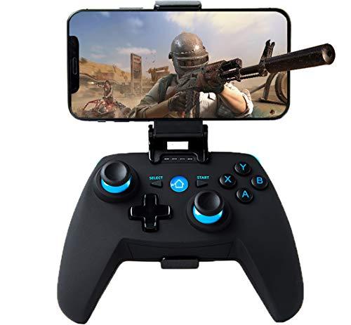 Maegoo Manette pour Android/PC/PS3, Bluetooth Mobile Game Android Manette, 2.4G sans Fil Manette PC/PS3/TV Gamepad avec Double Vibration