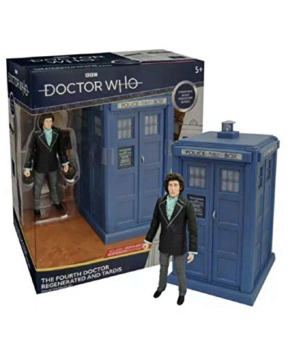 Doctor Who Le quatrième Docteur Regenerated et Tardis Collector Figure Set