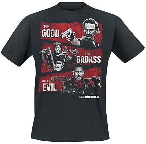 T-shirt de la série The Walking Dead noir