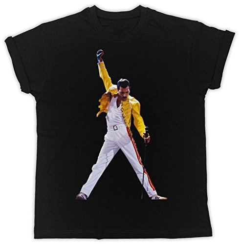 Uk print king Freddie Mercury Mic Drôle, Sympa, Cadeau, Concepteur, T-Shirt Unisexe