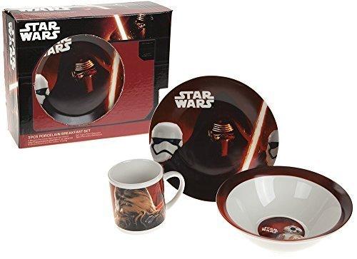 Star Wars Ensemble petit-déjeuner 3pièces en porcelaine
