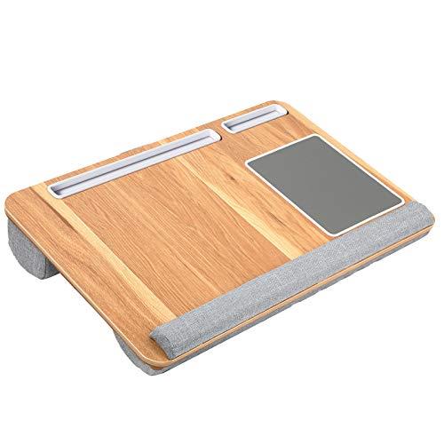HUANUO Plateau pour Ordinateur Portable avec Coussin, Tapis de Souris & Repose-Poignet intégrés pour Ordinateur Portable jusqu'à 17' avec Support pour Tablette, Stylo & Téléphone Nomai