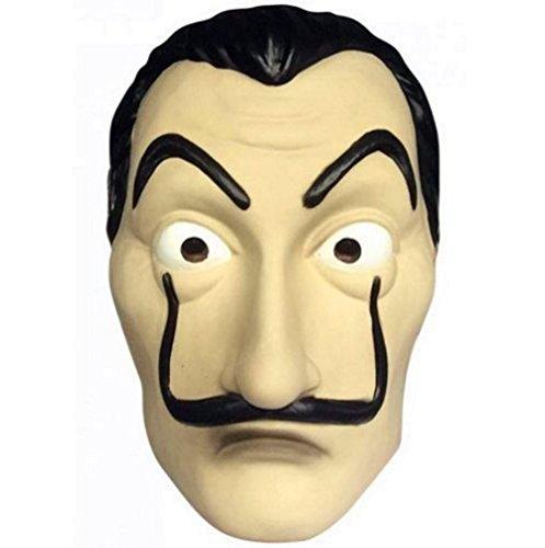 koobea Salvador Dali Face Mask Latex Masque La CASA De Papel Masque by