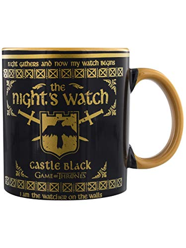 Game of Thrones MMG25195 Mug géant en céramique 568ml-Game of Thrones-Night's Watch