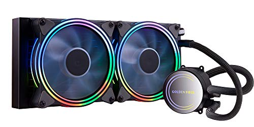 GOLDEN FIELD ICY Chill Series Refroidisseur Liquide, 2X PWM RGB Adressables 120mm Ventilateur, 240mm Radiateur Liquid CPU Cooler, WaterCooling Refroidisseur de processeur System for Intel AMD