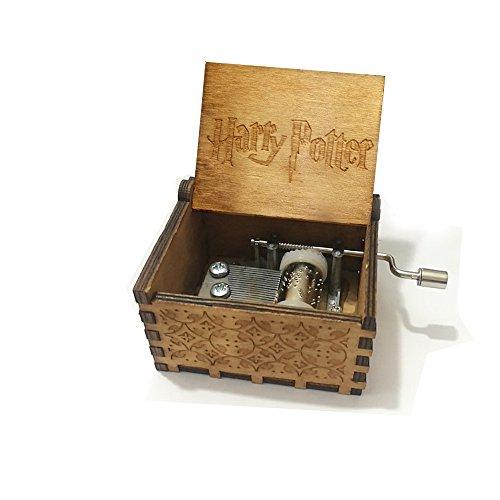 Premier Boîte à musique,'Harry...' gravé en bois Boîte décorative cadeaux de Noël