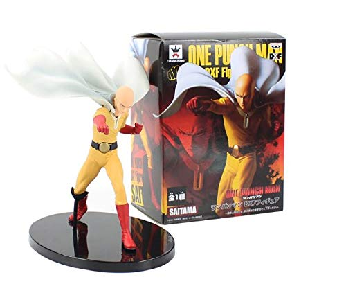 Banpresto DXF Figurine Saitama One Punch Man 20 cm Anime Figurine d'action PVC Jouets Figurine de Collection