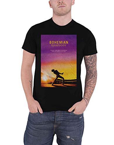 Queen Officiel Bohemian Rhapsody T Shirt Movie Logo Freddie Nouveau Homme