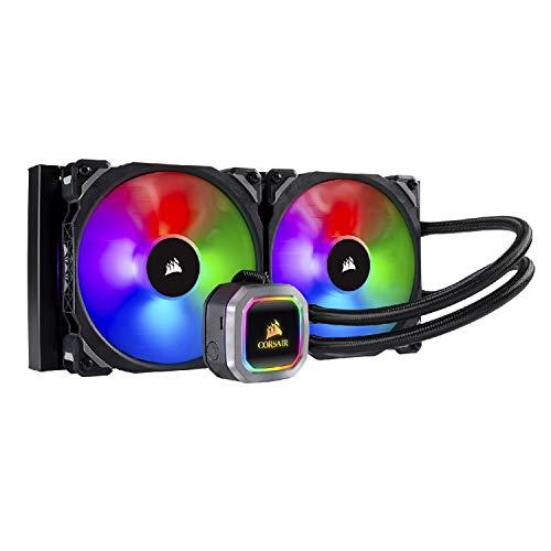 Corsair Hydro 115i RGB Platinum, Radiateur de 280mm (Deux ML PRO RGB de 140 mm PWM ventilateurs, Contrôle logiciel avancé de l'éclairage RGB et des ventilateurs) Refroidissement Liquide - Noir gameover.fr