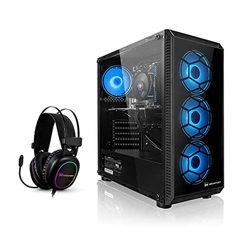Megaport PC Gamer Vector AMD Ryzen 5 3500X 6x3.60 GHz • GeForce GTX 1650 • 16Go 3000 RAM • 500Go M.2 SSD • Windows 10 • Unité Centrale Ordinateur de Bureau PC Gaming PC Ordinateur Gamer Nomai