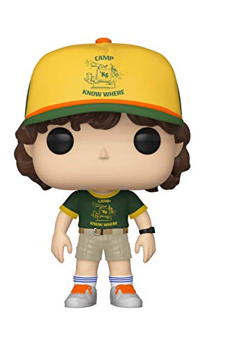 Funko- Figurines Pop Vinyl: Television: Stranger Things: Dustin (at Camp) Collectible Figure, 38532, Multi