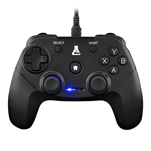 THE G-LAB K-Pad Thorium USB Wired PC & PS3 Gaming Controller with Built-in Vibration, Wired Gamepad - Manette de jeu pour PC Windows XP-7-8-10, PS3 et Android TV Box, Noir gameover.fr
