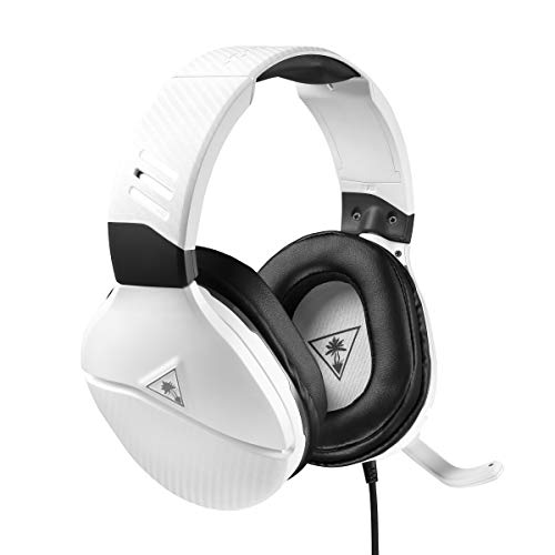 Turtle Beach Recon 200 Blanc Casque Gaming avec amplificateur - PS4, PS5, Xbox One, Nintendo Switch et PC