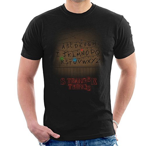 T-shirt Stranger Things guirlande alphabet RUN
