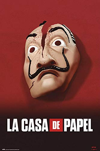 Close Up Poster La CASA De Papel - Masque (61cm x 91,5cm) + Un Poster Bora Bora en Cadeau!