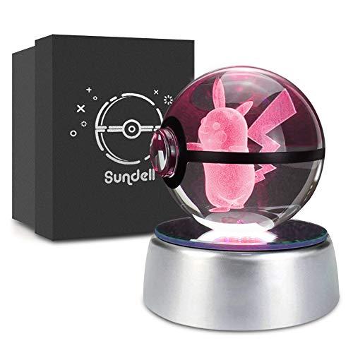 Lampe de décoration boule de cristal Pikachu Pokémon