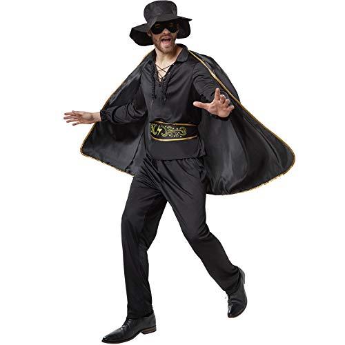 Costume Zorro avec cape, masque et chapeau