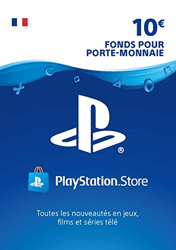 Sony PlayStation Store, Fonds pour porte-monnaie virtuel, Valeur 10 EUR, Code à télécharger, Compte français