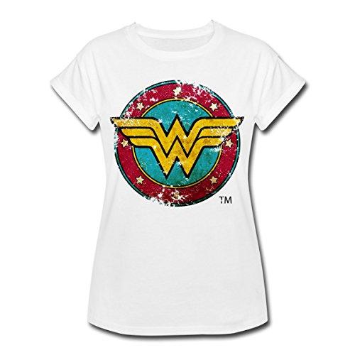DC Comics Wonder Woman Logo Bouclier T-Shirt Oversize Femme