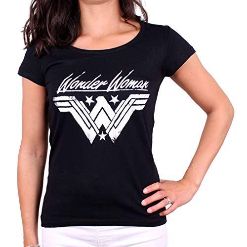 cotton division Tshirt Wonder Woman Femme - Grunge Logo