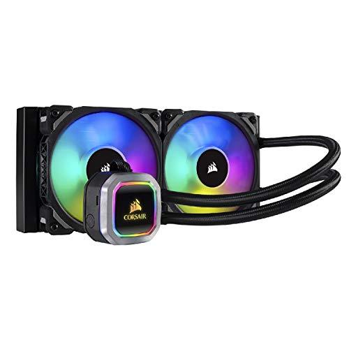 Corsair Hydro 100i RGB Platinum, Radiateur de 240mm (Deux ML PRO RGB de 120 mm PWM ventilateurs, Contrôle logiciel avancé de l'éclairage RGB et des ventilateurs) Refroidissement Liquide - Noir gameover.fr