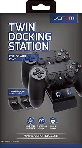 Venom Dual : Station de recharge avec LED pour manettes PS4