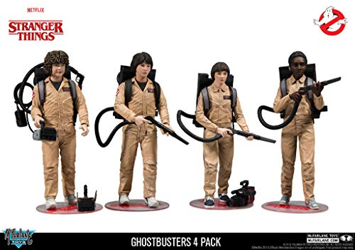 McFarlane Stranger Things - Pack 4 Figurines Ghostbusters 15 cm