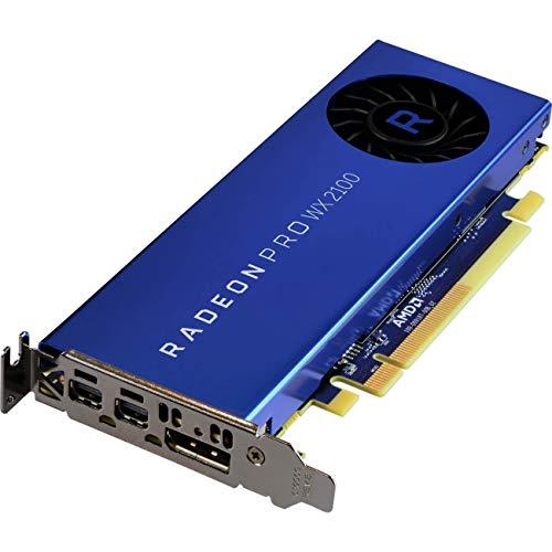 AMD Radeon Pro WX2100 – 2 Go GDDR5, PCIe 3.0, 1 x DisplayPort, 2 x Mini-DisplayPort.